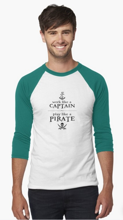 Work like a pirate T-shirt