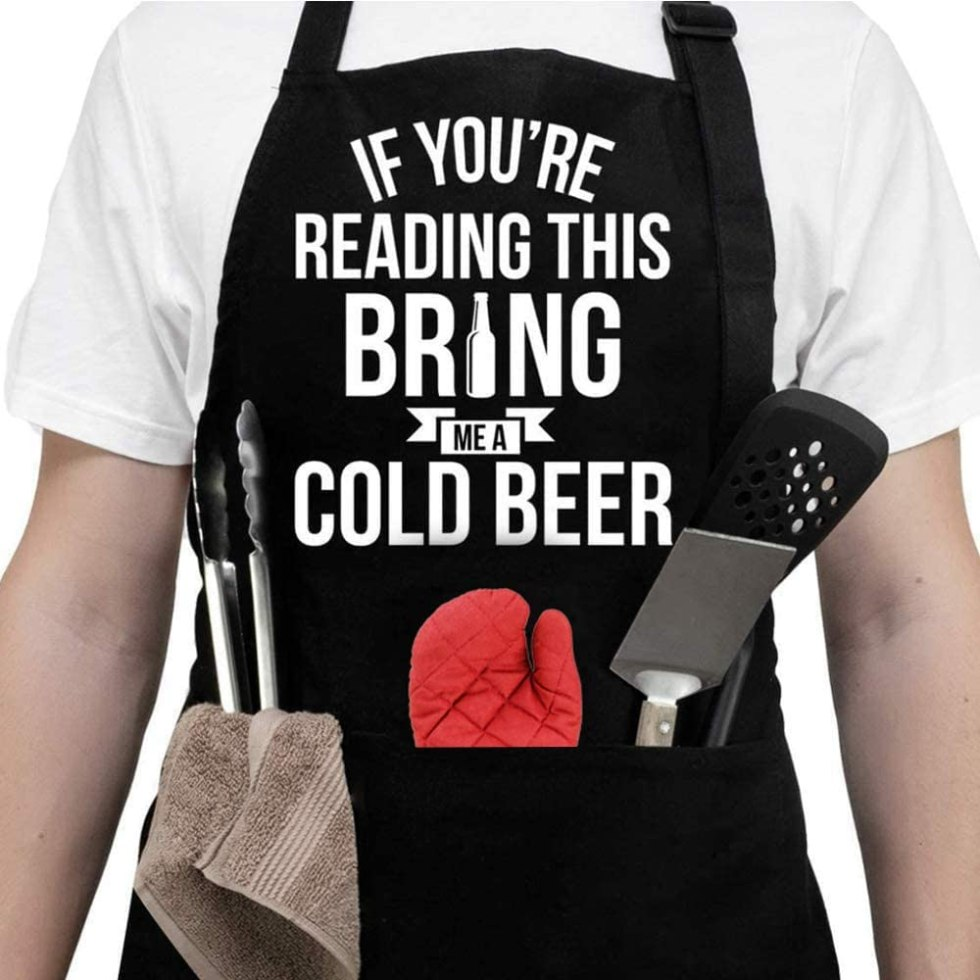 Bring me a cold beer apron