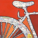 bicycle map art