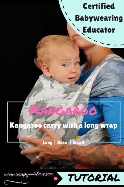 Kangaroo Carry with a long wrap Image