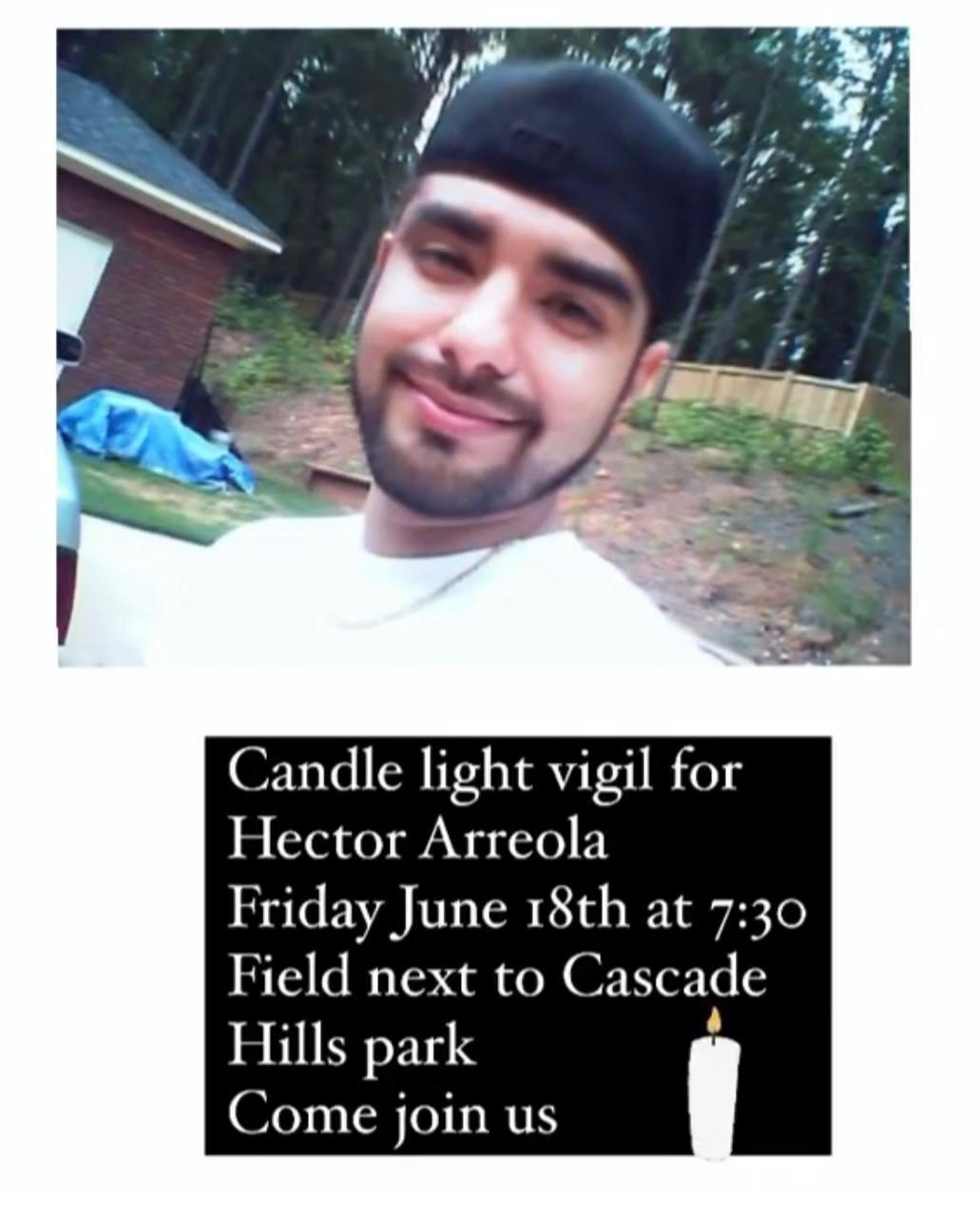 Arreola Candlelight vigil