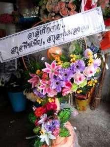 พวงหรีดดอกไม้สด จัดแต่งดอกไม้ประดิษฐ์สดใส ส่งความอาลัยจาก สกุลพืชเพ็ญ, สกุลพุ่มผลงอก จัดส่งที่ วัดดอนเมือง หรีด ณ วัด ขอแสดงความอาลัยยิ่งต่อการจากไปของผู้เสียชีวิตค่ะ