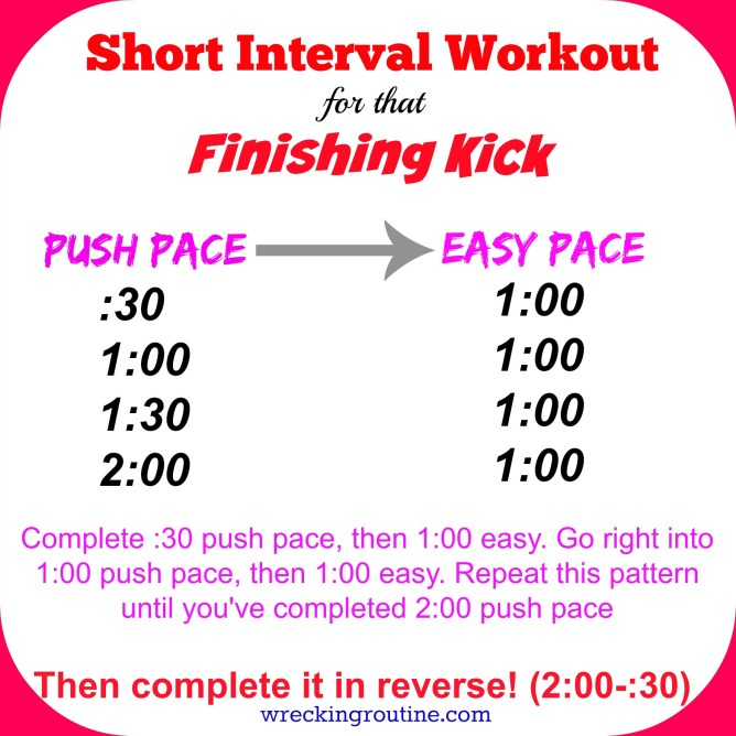 Short Interval Workout for that Finishing Kick