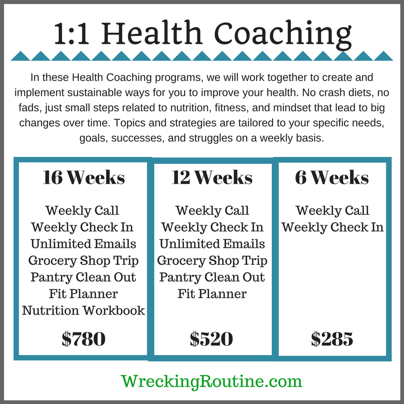 1:1 Health Coaching Services