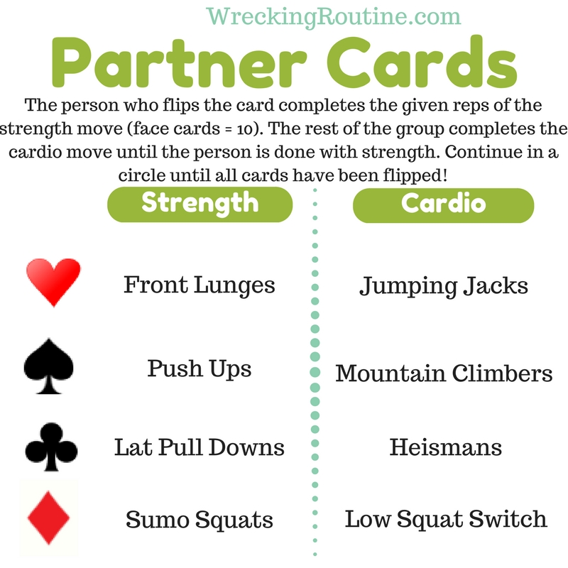 Partner Cards Workout