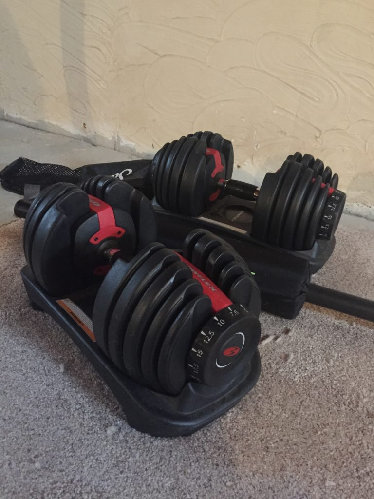 If you are creating a home gym, these Bowflex Dumbbells are a must have.