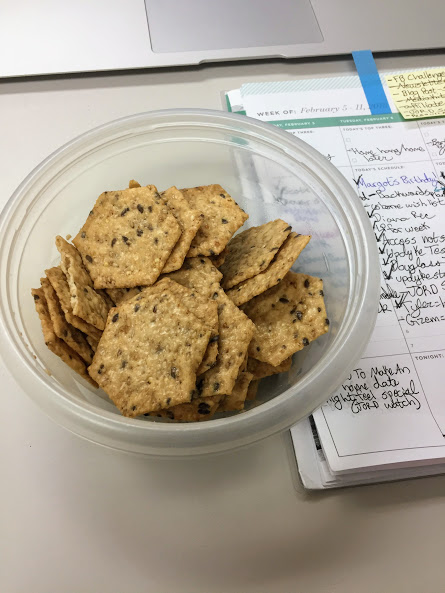 Seed Crackers for a healthy snack on the go.