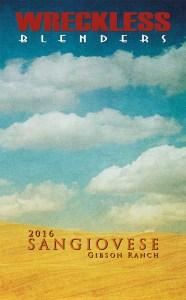 Wreckless Blenders 2016 Sangiovese