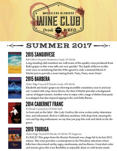Wreckless Blenders Wine Club Shipment 2017 Summer@0,25x