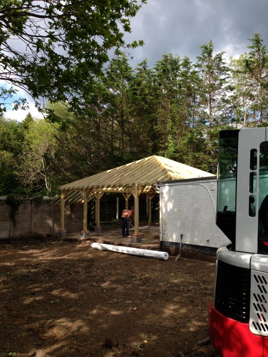 Timber Frame Carport Construction Wren Building Contractors Ltd
