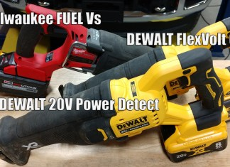 DEWALT XR Power Detect 20V Reciprocating Saw DCS368 Vs Flexvolt 60v DCS389 Vs Milwaukee Fuel 2721-20