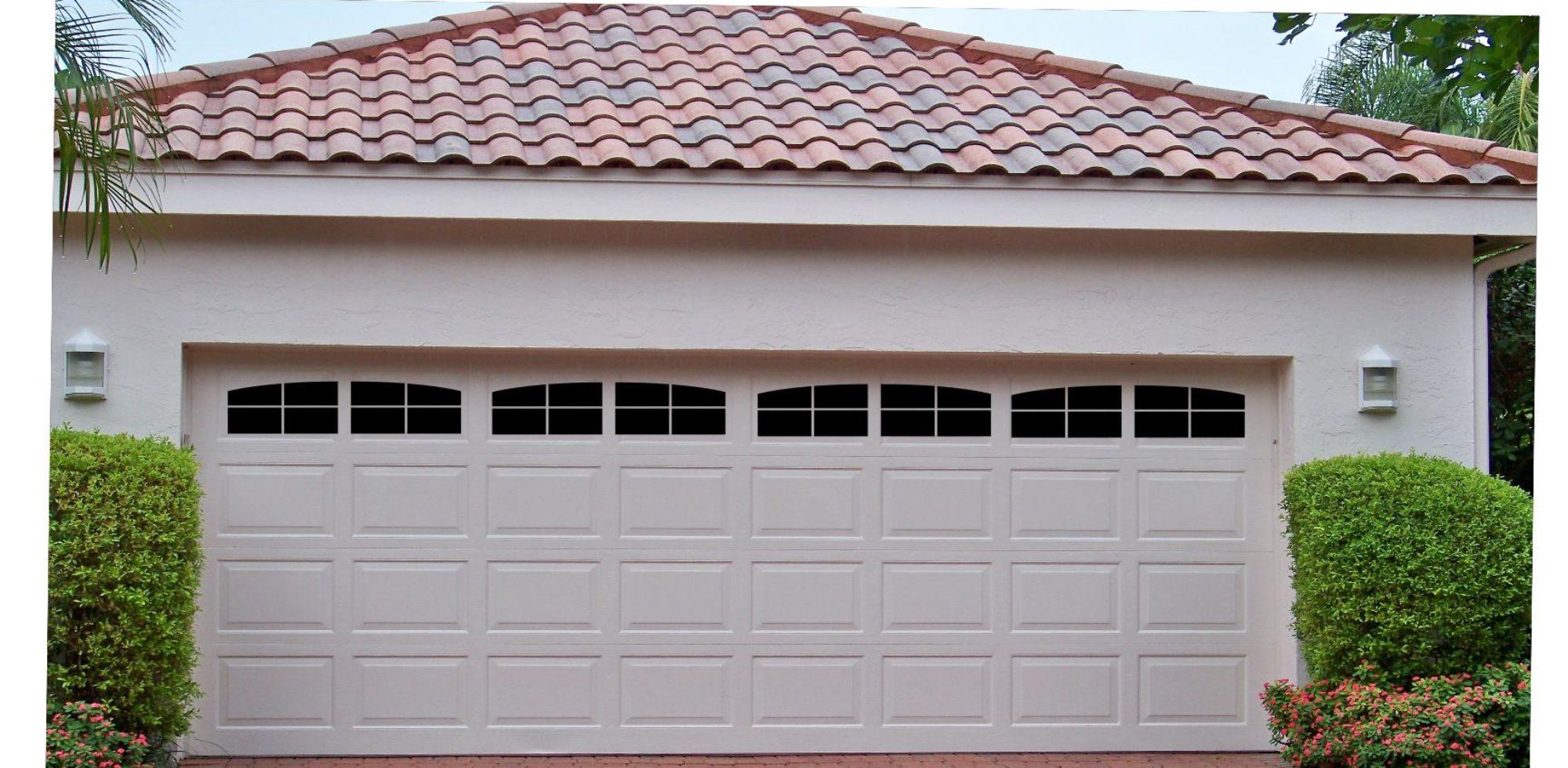 Carriage House Style Faux Window Garage Door Vinyl Decals