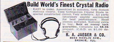 Vintage Ad – Crystal Radio