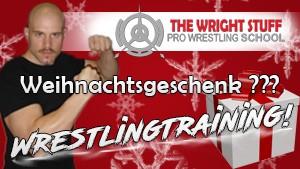 Wright Stuff Pro Wrestlingschool Weihnachtsbanner