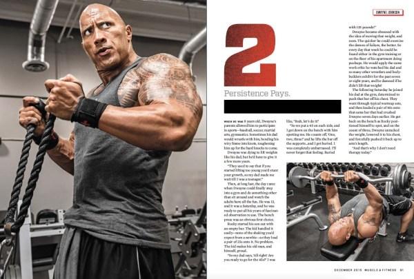 Dwayne Johnson Muscle and Fitness Magazine