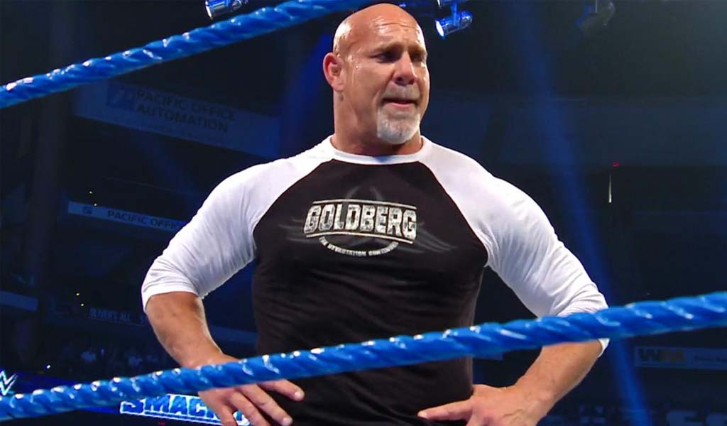 Goldberg wins the Universal title at Super ShowDown