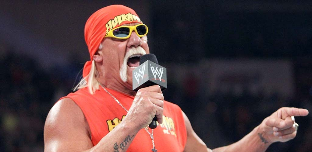 Backstage video of Hogan, Rock, and Austin prior to opening segment