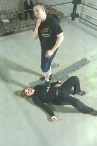 Chest Flexor preps for his battle with Jason Gory