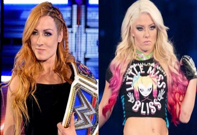 Becky Lynch vs Alexa Bliss clash