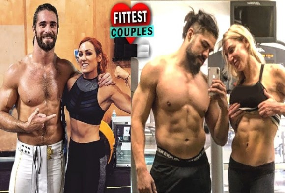 Seth Rollins and Becky Lynch and Charlotte Flair and Andrade
