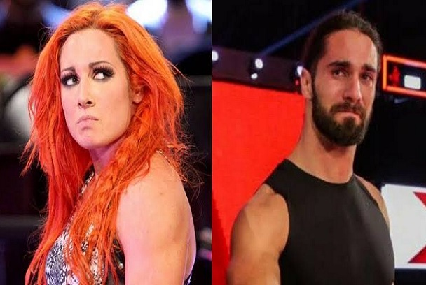 WWE Stars Becky Lynch and Seth Rollins