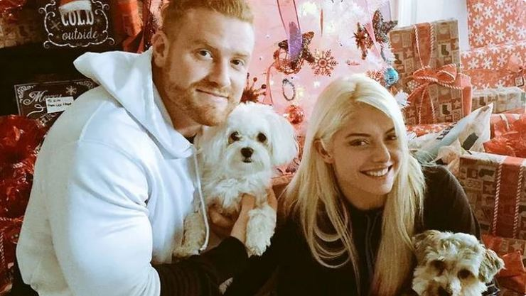 Alexa Bliss and Buddy Murphy