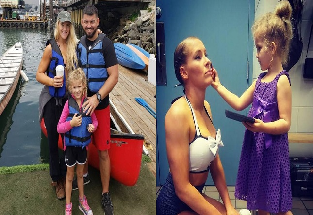 Lacey Evans enjoying her family time with her husband and daughter, Summer