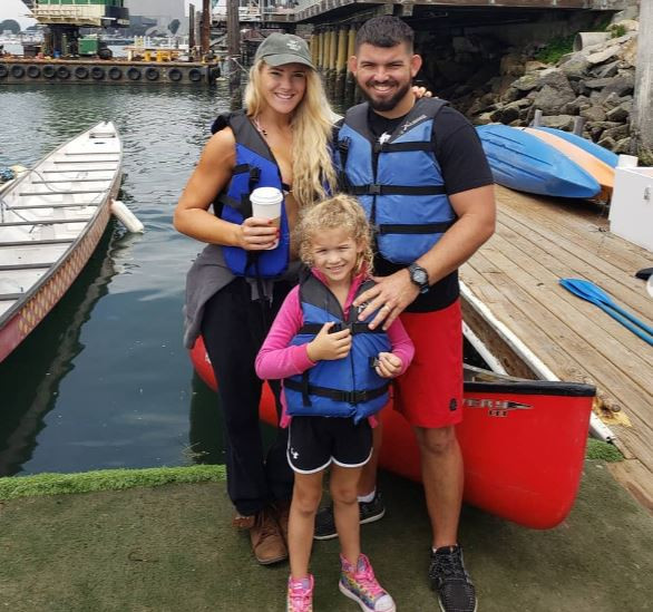 Lacey Evans enjoying her family time with her husband and daughter