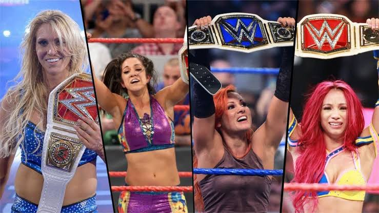 Sasha Banks, Bayley, Becky Lynch and Charlotte Flair