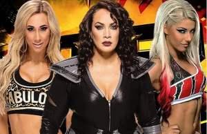 Alexa Bliss, Carmella, and Nia Jax