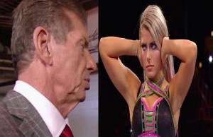 Alexa Bliss and WWE CEO Vince McMahon