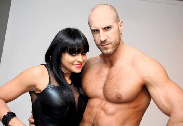 Cesaro dating; Cesaro and his girlfriend Aksana