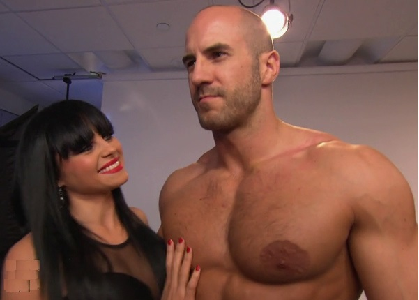 Cesaro Antonio and Aksana backstage love Photos