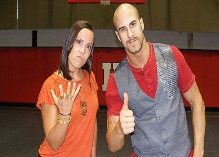 Cesaro and his girlfriend Sara Del Rey