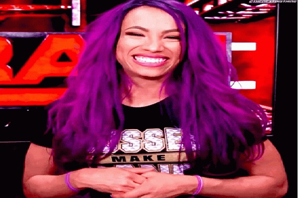 sasha banks laughing
