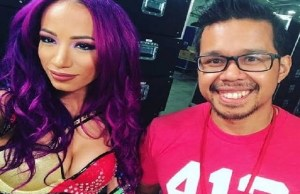 Sasha Banks and Sarath Ton