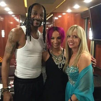 Snoop Dog and his cousin sister Sasha Banks