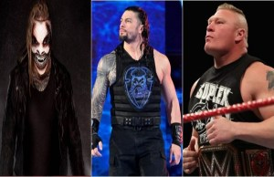 The Fiend Bray Wyatt, Roman Reigns and Brock Lesnar