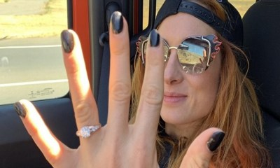 Becky Lynch shows off ring