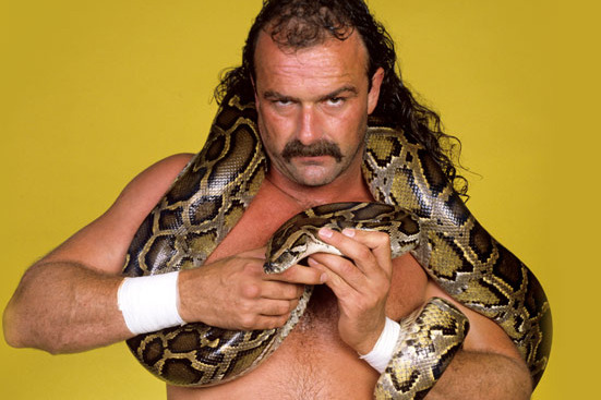 Jake Roberts with snake