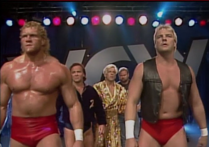 Barry Windham and team