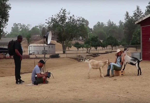 Browsey Acres Ranch photoshoot gets eaten by Browsey Acres goats