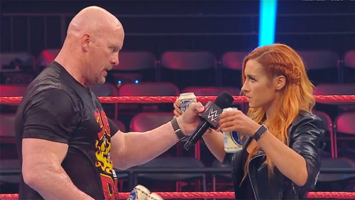 Stone Cold and Becky Lynch