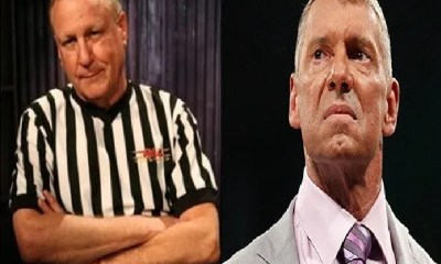 WWE referee Earl Hebner and Vince McMahon
