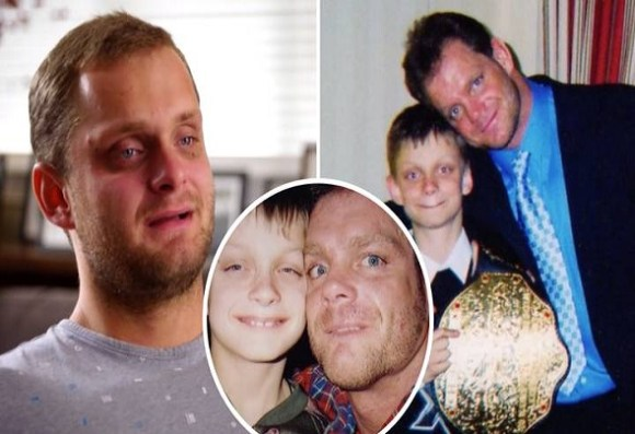 Chris Benoit, his son and wife