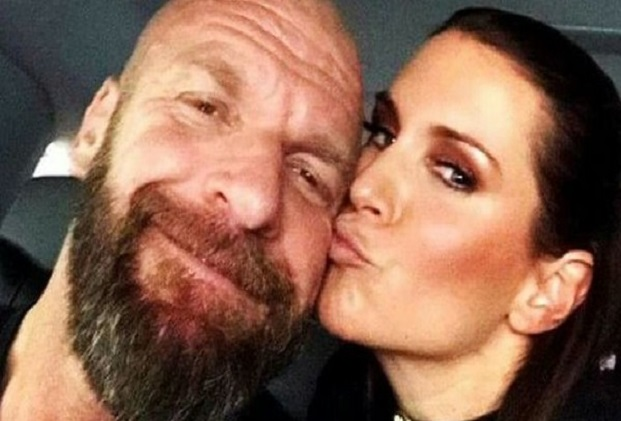 Triple H kissed Stephanie McMahon