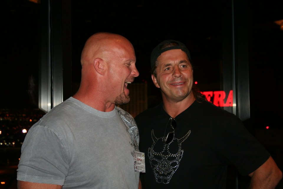 Bret Hart and Stone Cold look