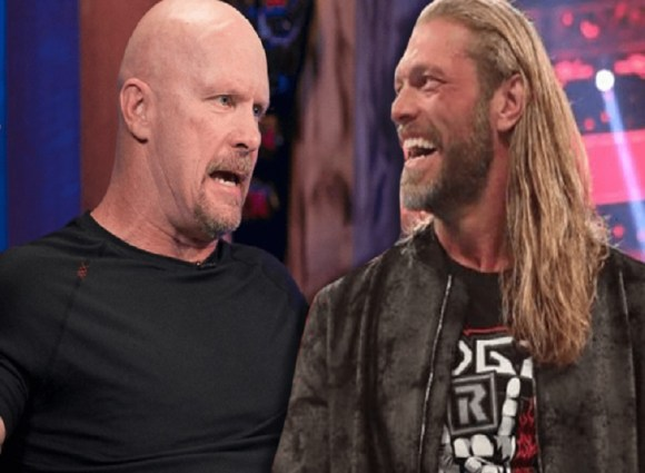 EDGE and Stone Cold smile