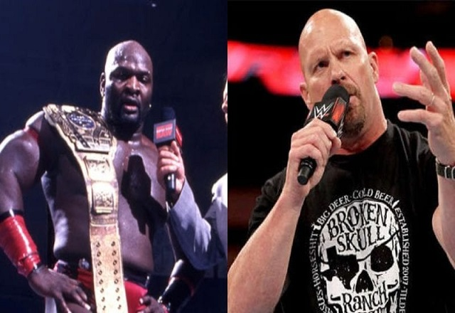 Steve Austin and Ahmed Johnson