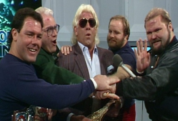 Arn Anderson and James J. Dillon, Ric Flair, Tully